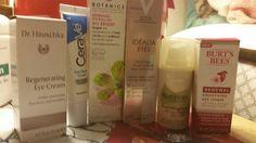 All my eye creams