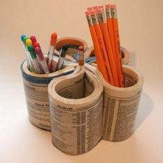 Turn an old phonebook into a desktop organizer. | 27 Cheap And Easy Gifts To Make With Kiddos