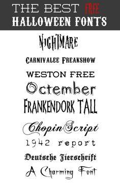 Best Free Halloween Fonts | Skimbaco Lifestyle | online magazine