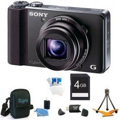 Sony Cyber-shot DSC-HX9V Digital Camera 4GB Bundle - Includes Cyber-shot DSC-HX9V Digital Camera, 4 GB Memory Card, Card R... $340