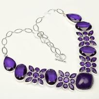 Amethyst Gemstone Necklace ***Free Shipping***