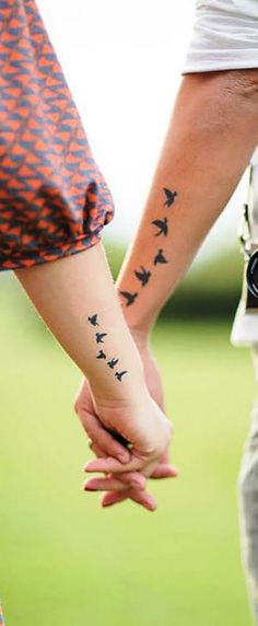 "of this design so here we had gathered some of the couple tattoo designs. Just check out ""55 Lovely Couple Tattoo Ideas To Show Their Love To The World"""