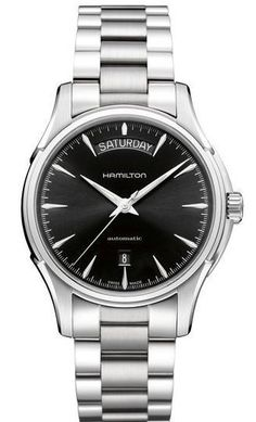 Hamilton Watch American Classic Jazzmaster Day Date Auto #bezel-fixed #bracelet-strap-steel #brand-hamilton #case-material-steel #case-width-40mm #date-yes #day-yes #delivery-timescale-7-10-days #dial-colour-black #gender-mens #luxury #movement-automatic #official-stockist-for-hamilton-watches #packaging-hamilton-watch-packaging #subcat-american-classic-jazzmaster #supplier-model-no-h32505131 #warranty-hamilton-official-2-year-guarantee #water-resistant-50m