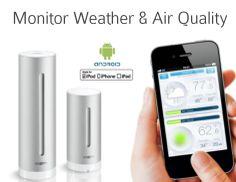 Kul værstasjon som og monitorerer luftkvalitet