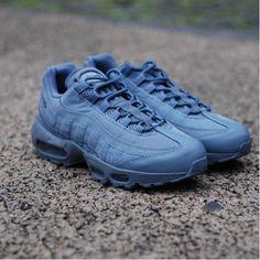 26e2b5dc68a3 Nike Air Max 95 All Hazy Blue Mens UK Online Cheap Air Max 95