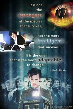 Doctor Who, Sherlock, Supernatural - SuperWhoLock Best Crossover, Fandom Crossover, I Am The Doctor, Doctor Who, Jared Supernatural, Excellence Quotes, Charles Darwin, Geek Humor, Sherlock Bbc