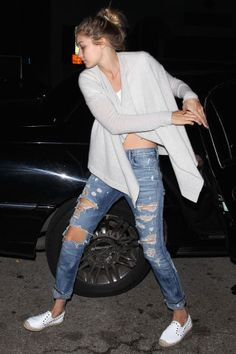 Celebrity Denim: Gigi Hadid