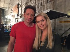David Duchovny and Claire Holt