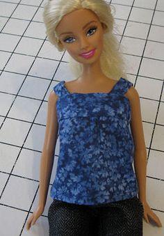blusa Patrones ropa para Barbie