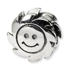 Sterling Silver Reflections Smiling Sun Charm Bead - Pandora Compatible