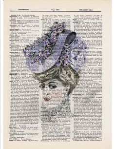 lilac Victorian hat