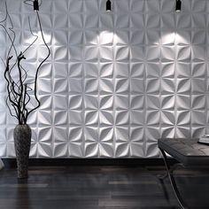 Decorative Wall Panels Cornus Angustata Design Pack of 12 Tiles 32 Sq Ft (Plant Fiber), White 3d Wandplatten, White Brick Wallpaper, Wall Panel Design, Diy Wall Panel, Pvc Wall Panels Designs, Wall Texture Design, 3d Wall Tiles, Tile Accent Wall, Accent Wall Panels