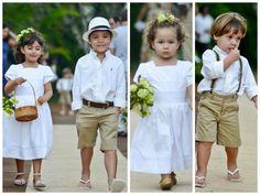 Se ainda não decidiu como vai ser a entrada das crianças no seu casamento, aqui tem uma lista de ideias para ajudá-la.