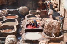 Tannerie de Fès. #fes #maroc #travel #tannerie #morocco Painting, Painting Art, Paintings, Painted Canvas, Drawings