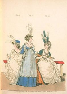 Gallery of fashion May 1796 - Evening dresses for the opera and concerts