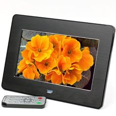 Micca M707z 7-Inch 800x480 High Resolution Digital Photo Frame With Auto On/Off Timer, MP3 and Video Player (Black) by Micca, http://www.amazon.com/dp/B007UU354G/ref=cm_sw_r_pi_dp_fRJSrb0RWAYXS