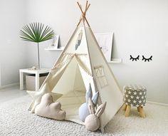 Toddler Teepee, Childrens Teepee, Teepee Play Tent, Teepee Kids, Toddler Bed, Toddler Rooms, Kids Wigwam, Kids Tents, Estilo India