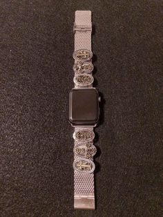 Apple Watch iWatch Band 42mm Women Bands Faith Charms  Silver