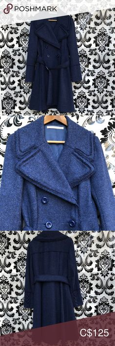 Susan Monaco Lambswool Coat Like NEW - Navy tweed Susan Monaco Wool Coat. This coat is gorgeous and has not rips or stains. Size: 8 Length from collar: Shoulders: Arm Length from shoulder: Side pockets Susana Monaco Jackets & Coats Plus Fashion, Fashion Tips, Fashion Trends, Wool Coat, Tweed, Jackets For Women, Arm, Stains, Coats