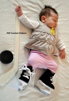 Instant Download Ice Hockey Skates Crochet by IrishHooksAndYarn - @Tracey Goedken - could you make these???