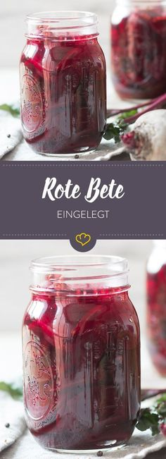 Eingelegte Rote Bete – So kannst du dich das ganze Jahr über die rote Knolle f… Pickled beetroot – so you can look forward to the red tuber all year round – pickled in vinegar with mustard seeds, Detox Salad, Detox Soup, Smoothie Detox, Chutneys, Detox Cleanse For Weight Loss, Beetroot Soup, Pickled Red Onions, Preserving Food, Detox Drinks