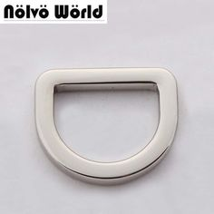 "3.6mm line 20mm(3/4"" inside) polished silver color bags' fat d-ring for handbag purse,square edge d ring,50 pieces"