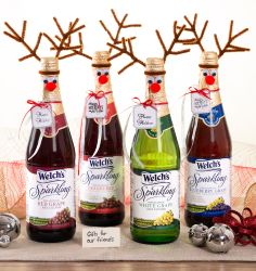 with Welch's Sparkling! Reindeer bottles, holiday decorations, holiday ...