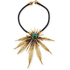 Lisa Eisner Jewelry Sculptural Leaf Necklace with Turquoise (21.380 BRL) ❤ liked on Polyvore featuring jewelry, necklaces, jewelry necklaces, turquoise, sculptural jewelry, turquoise jewellery, clasp necklace, turquoise jewelry and green turquoise necklace