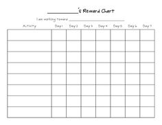 111 best printable reward charts template images on pinterest in