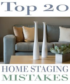 Top 20 Home Staging Mistakes . home staging is quickly becoming a necessity & an integral part of selling real estate. Gone are the days when staging was simply an option; in today's tough real estate market proper staging is the only way to set your ho Sell My House, Up House, Selling Your House, Home Staging Tips, House Staging Ideas, Decorating Ideas, Decor Ideas, Interior Decorating, Selling Real Estate