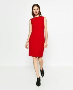 Shift Dress by Zara. Day to night dress. Sheath Dress, Dress Skirt, Bodycon Dress, Dress Red, Day To Night Dresses, Dresses For Work, Zara, Contemporary Fashion, Affordable Fashion