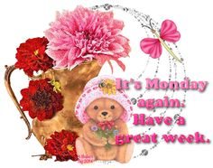 Happy Monday Gif, Happy Monday Pictures, Monday Images, Happy Sunday, Good Morning Sister, Good Morning All, Monday Again, It's Monday, Mondays