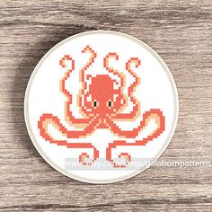 Cross stitch pattern Counted cross stitch pattern PDF pattern Embroidery pattern Octopus Sea Nautical Nursery art DIY - Instant download
