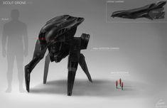 SCOUT DRONE DESIGN/CONCEPT ART by nobody00000000.deviantart.com on @DeviantArt