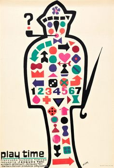 Play Time (1967) film poster by Flisak