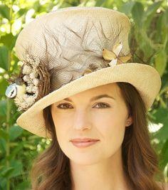 Bird's Nest Hat. Natural Vintage Ramie Sisal Straw Hat. Wedding Hat, Special Occasion Hat, Ascot Hat, Kentucky Derby Hat