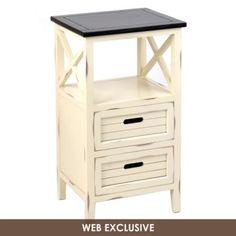 Wood Cream Side Table