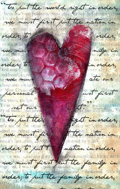 This is a cute site called Homegrown Hospitality, please check it out very heart warming and creative. Mixed Media Artwork, Mixed Media Collage, Collage Art, Art Journal Pages, Art Journaling, Junk Journal, Decoupage, I Love Heart, Heart Art
