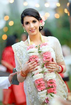 Beautiful Parsi bride on her wedding day in traditional Parsi bridal outfit | WedMeGood| Anahita & Arush| #wedmegood #indianweddings #parsibride #parsiweddings #white #saree #parsitraditions