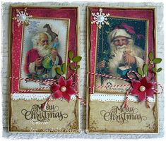 vintage Santa Reminds me of my childhood, thanks for the memories! Christmas Cards To Make, Christmas Paper, Xmas Cards, Christmas Greetings, Holiday Cards, Christmas Crafts, White Christmas Trees, Vintage Christmas Ornaments, Handmade Christmas
