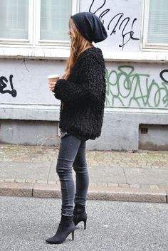 copenhagen street style 2014 - Google Search  Love the look. I would do it all with laced up wedges,