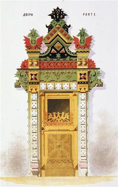ornate door frame.