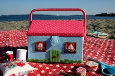 Charming sewing box from Cath Kitson; just a pic, but soo cute