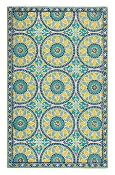 Company C Lisette Cerulean Blue Striped Rug & Reviews | Wayfair