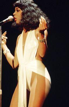 Summer performs onstage circa 1977.