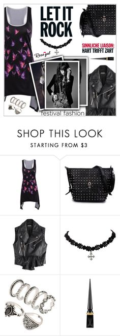"""RoseGal #32"" by shambala-379 ❤ liked on Polyvore featuring Dsquared2, Yves Saint Laurent, Christian Louboutin and festivalfashion"
