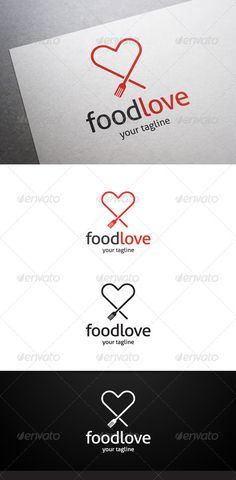 Food Love Logo ...  cafe chef cook cooking cooking school delicious eco food food love fork fun green happy healthy kitchen love restaurant salad simple smily spoon wedding