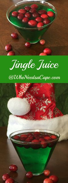 Jingle Juice the perfect Holiday Cocktail