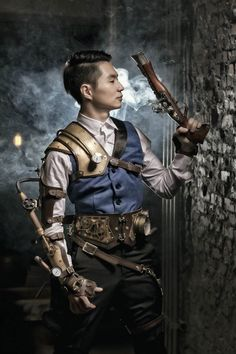 A guide to Steampunk fashion: costume tutorials, Steampunk clothing guide, cosplay photo gallery, updated calendar of Steampunk events, and more. Chat Steampunk, Arte Steampunk, Steampunk Pirate, Style Steampunk, Steampunk Men, Steampunk Cosplay, Steampunk Clothing, Steampunk Fashion, Steampunk Outfits