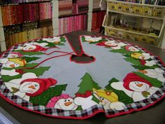 Pattern - Appliqued Snowman Tree skirt - by Disa Designs - 41 ...